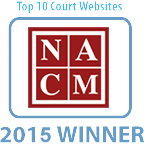 Top 10 Court Websites of 2015 badge